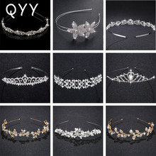 Hot Sale Crystal Pearls Alloy Tiaras and Crowns Bridal Headpieces Wedding Hair Accessories Jewelry Bride'Tiaras Hairbands цены онлайн
