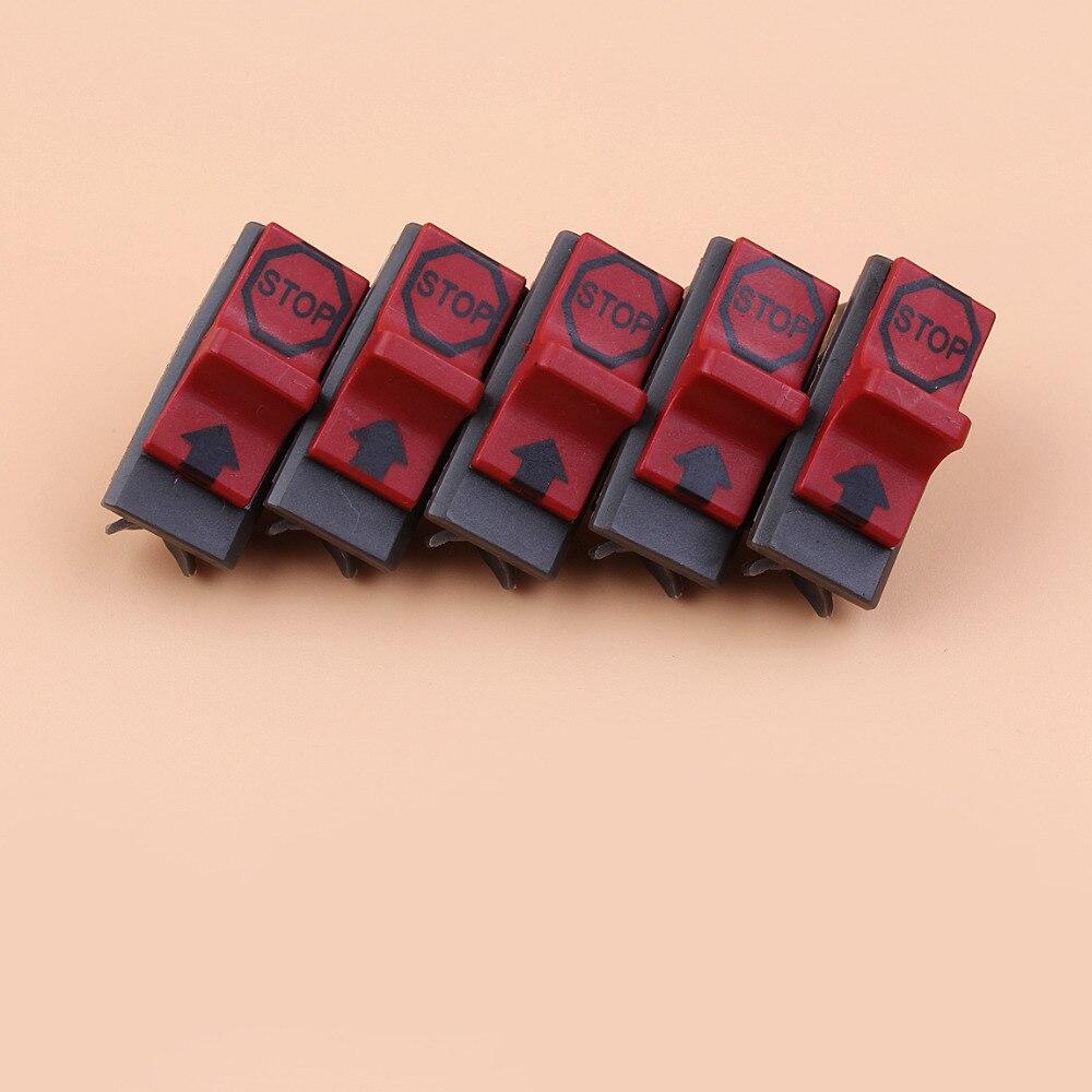 5x Kill Stop Switch Fit HUSQVARNA 50 Special 51 55 Rancher 61 66 162 181 242 246 254 257 261EPA 262 266 268 272 K 281 288 EPA
