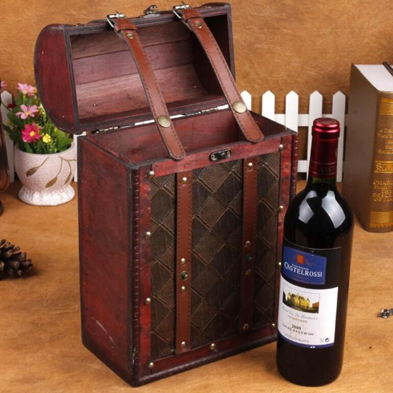 classic vintage continental caja de vino de madera caja de madera del vino cajas creativo apoyos