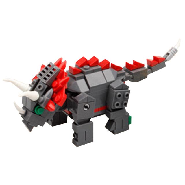 Dinosaurs Catcher Triceratops Model Building Blocks Set Bricks Christmas Toys For Boys Girls