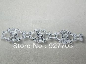 1yds asequible impresionante Diamante de imitación cristal plateado aplique cadena nupcial embellecedor