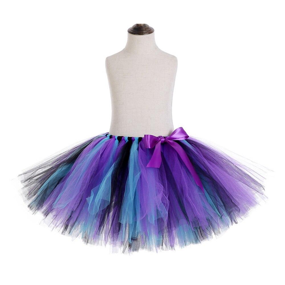 Rainbow Skirt Knee Length Nylon Mesh Tulle Skirt Kids Back to School Costume Happy Easter Party Tutu Skirt with Ribbon Bowknot (6)