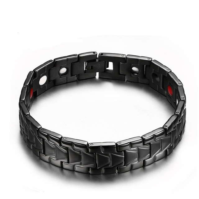 2016 Men Jewelry Magnetic Fashion Bracelet Titanium Steel Massage Bracelets Bangles Health Care Gifts Bracelet For Men