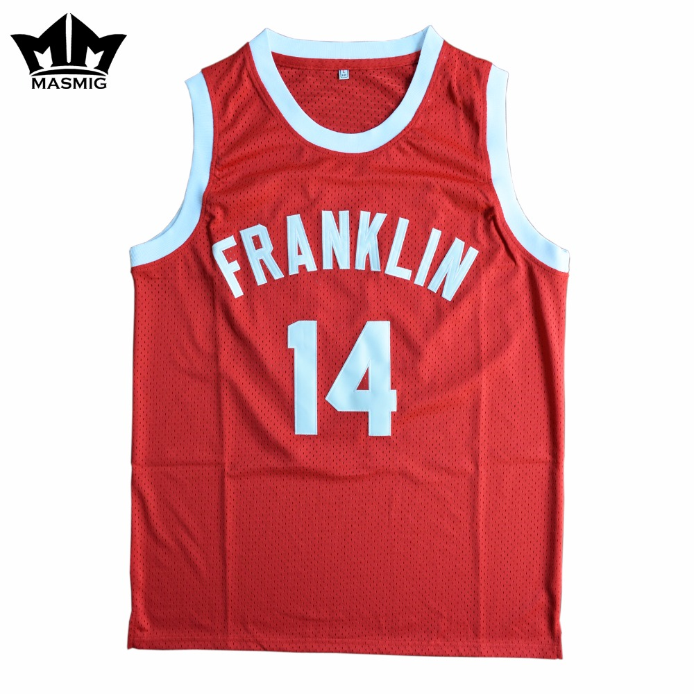 """MM MASMIG Rebound Earl """"The Goat"""" Manigault 14 Benjamin Franklin High School Basquete  Jersey Red S para 3XL"""