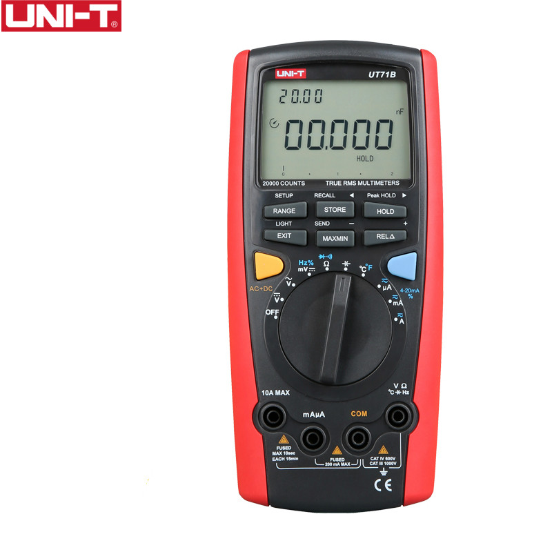 UNI T UT71B professional digital multimeter alicate amperimetro ac / dc ampere capacitance meter auto range digital multimeter uni t ut151e digital multimeter atv 250cc laptops digital multimeter