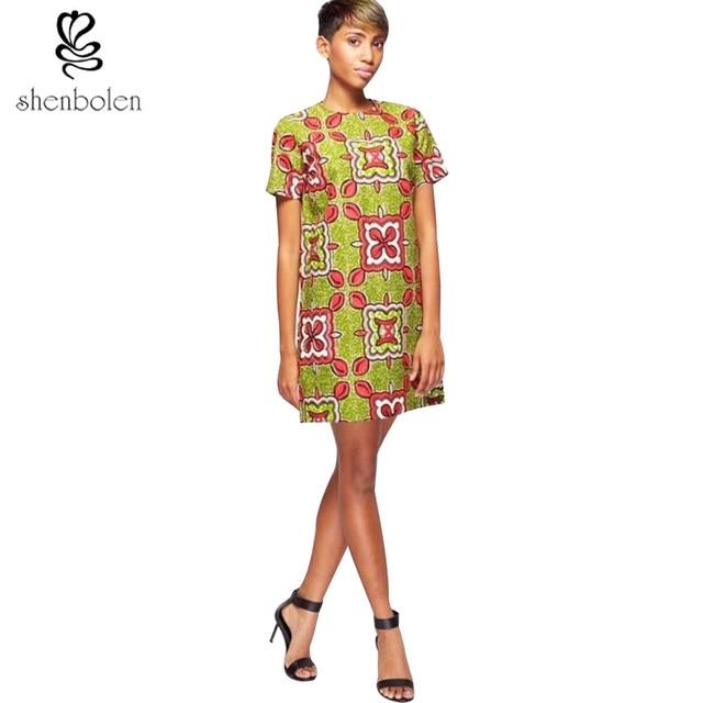 2017 summer African dresses for women dashiki Clothing batik print ...