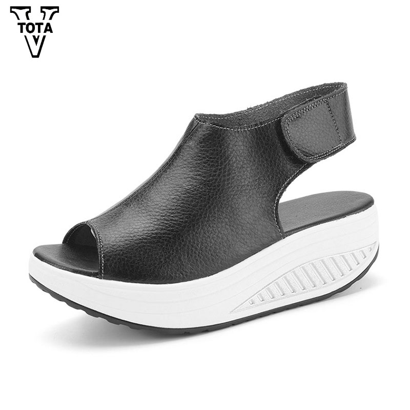 VTOTA Summer Platform Shoes Woman Fashion Sandals Women Loafers Women Casual Women Shoes Wedges Comfortable Zapatos Mujer Q30 vtota summer shoes woman platform sandals women soft leather casual peep toe gladiator wedges women shoes zapatos mujer a89