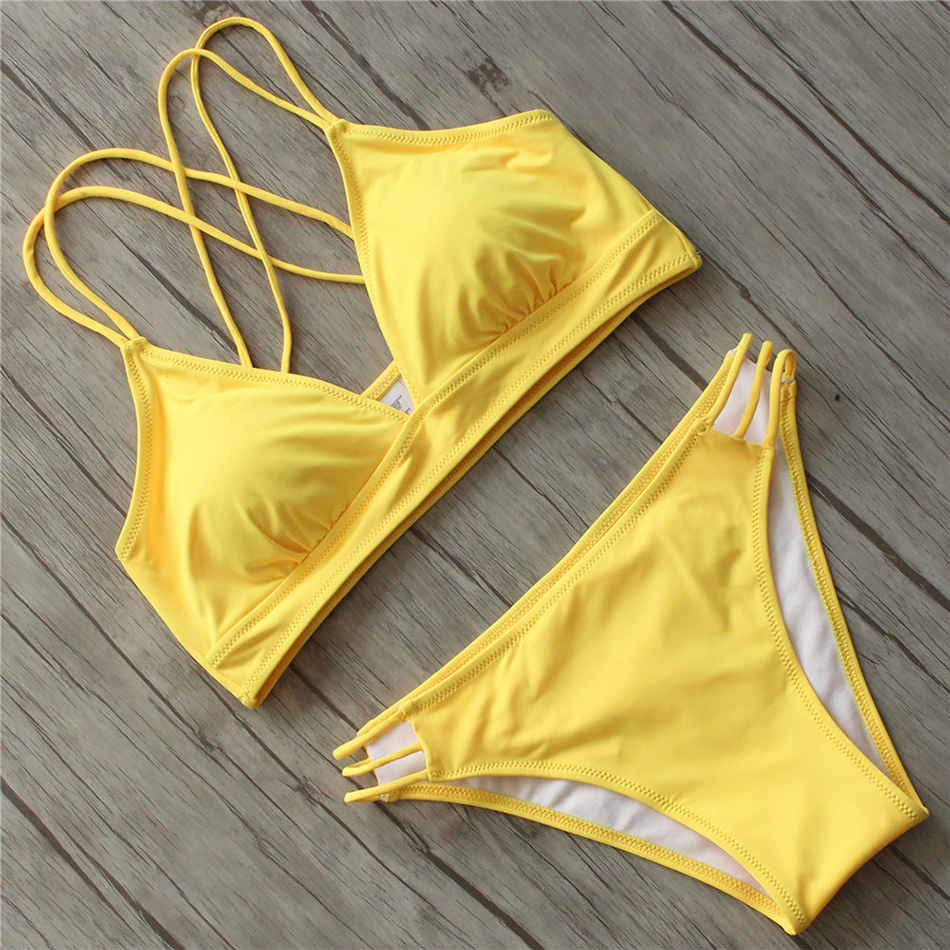 Swimwear Women Bikini 2018 Sexy Push Up Swimsuit Female Plus Size Solid Bathing Suits Beach Swimming Suit for Women Bikinis Set new fat wear plus size bikini set bathing suit push up bikinis women large cup bikini set women swimwear sexy plus size swimsuit