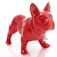 cute ceramic French Bulldog dog statue home decor crafts room decoration dog ornament porcelain animal figurines decorations nordic macaron color french bulldog ceramic figurines collectibles for home decor weddings centerpieces porcelain animal statues