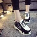 2015 female shoes lacing platform wedges single shoes female casual shoes platform shoes swing