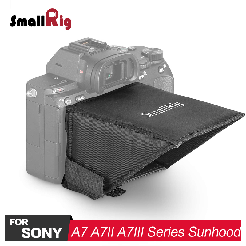 SmallRig A7M3 / A7M2 DSLR Camera LCD Screen Sunhood Sun Shade For Sony A7 A7II A7III A9 Series Cameras 2215