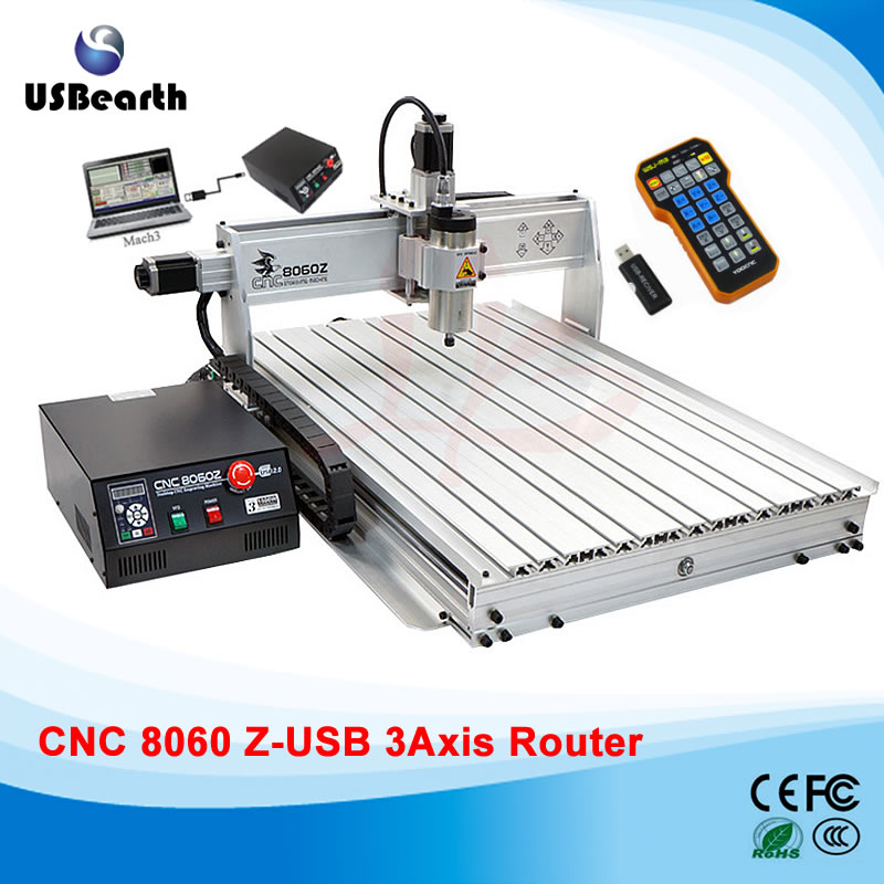 Water cooling CNC machine 8060Z-USB 3axis 2.2KW metal cnc milling machine, Russia free tax kary 2017 multifunctional 3t 126w 720w stainless steel submersible dc solar water pump brushless deep well water fountain pump