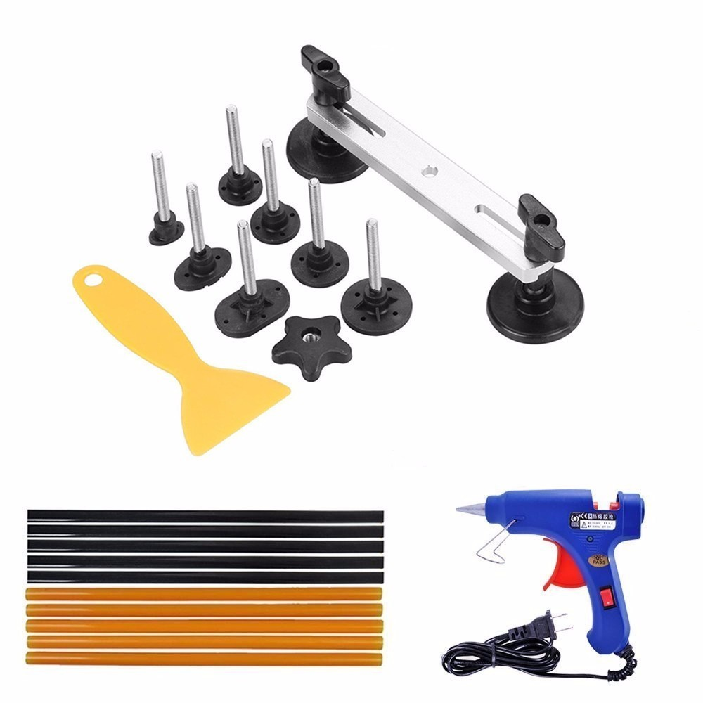 Car Body Dent Removal Repair Tools Pops A Dent Ding Car Auto Damage Repair Puller Tool Kits 21 Pcs цена