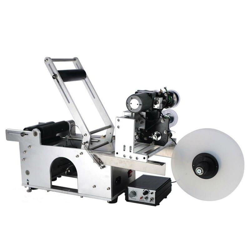 LT50D Etiquetadora Automática Rodada Garrafa Máquina de Etiquetas Com Código de Data de Impressão