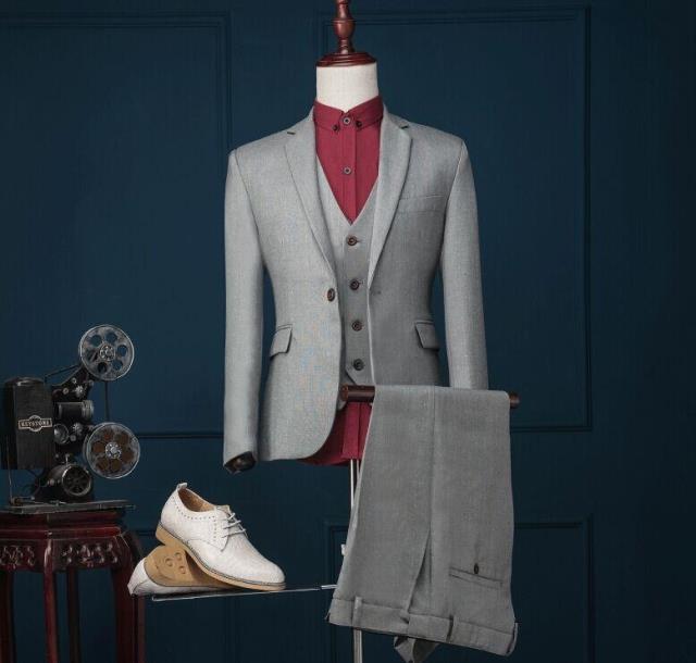2016 New style Mens Business Suits Korean Version Slim Suits Blzers Set Stage Performance Suit for singer guest