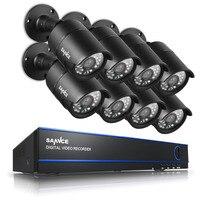 SANNCE 8CH 1080P HD DVR 2MP Outdoor IR Home Surveillance Security Camera System