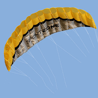 Dual Line Kite Parafoil Parachute Stunt Sport Beach Children Toys Nylon 6 Colors