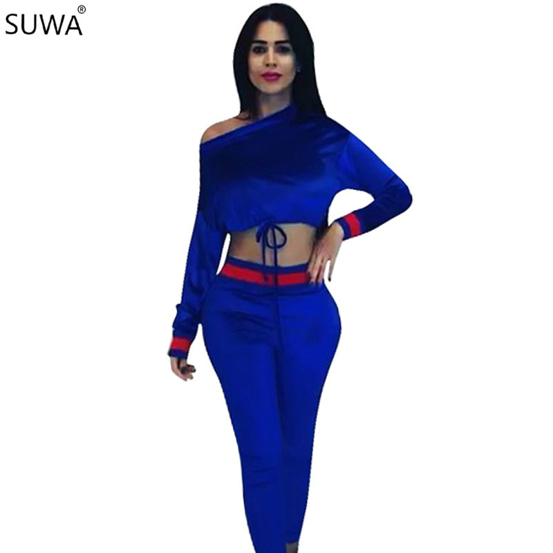 Women Jumpsuits Sexy Club Rompers Womens Jumpsuit Two Piece Striped Overalls Autumn Female Playsuit LM923