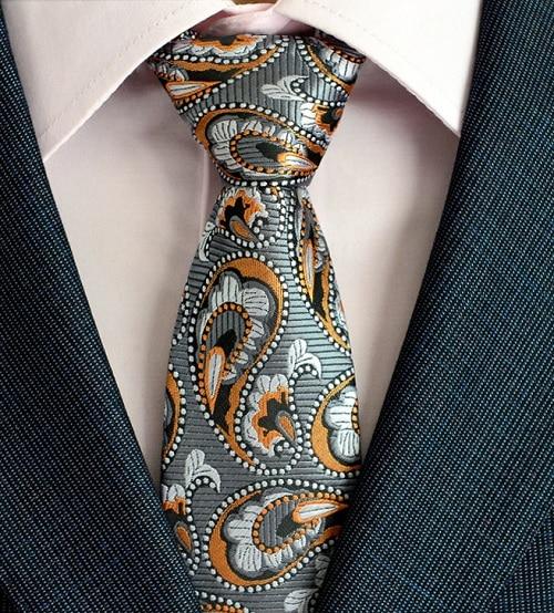 Klasična muška svilena kravata za vrata od 8 cm, vezanje paisley i - Pribor za odjeću - Foto 6