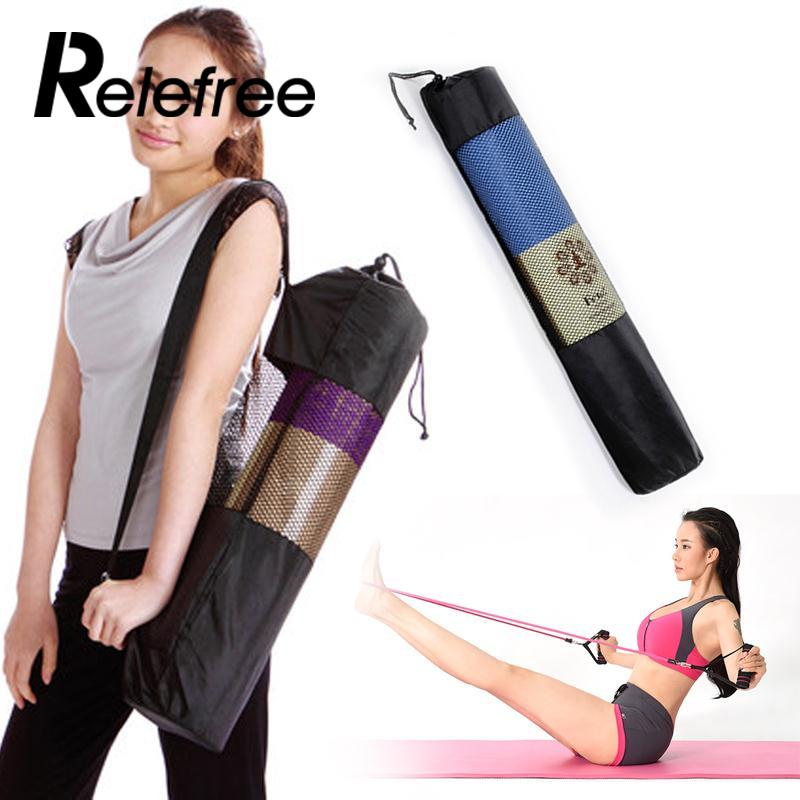 New Convenience Blackyoga backpack yoga mat waterproof backpack yoga bag Nylon Pilates Carrier Mesh Adjustable Strap Sport Tool