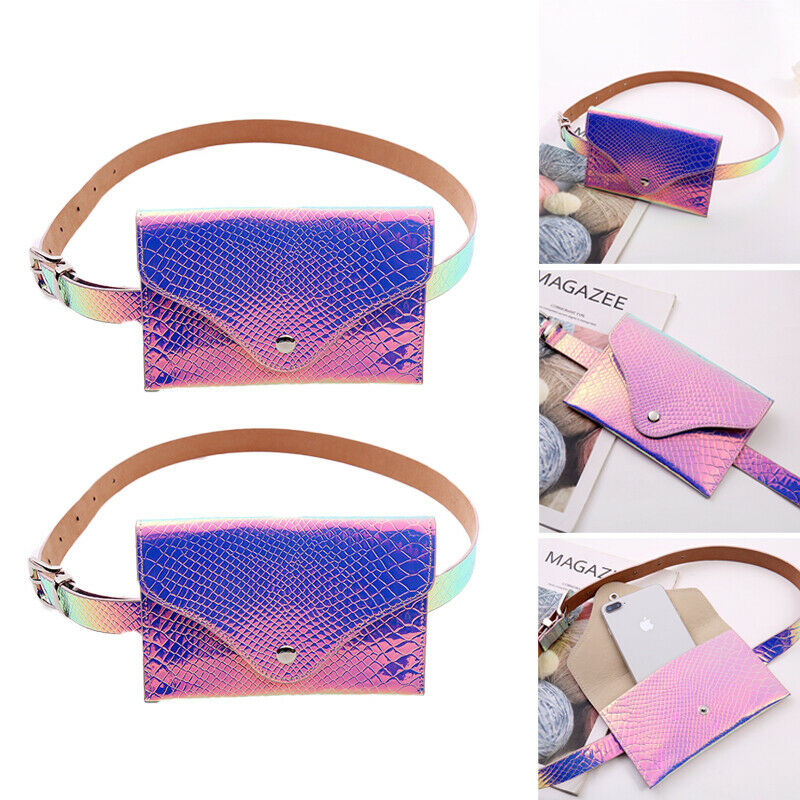 Candy Laser Transparent Clear Bum Waist Fanny Pack For Women Chest Cross Body Key Wallet