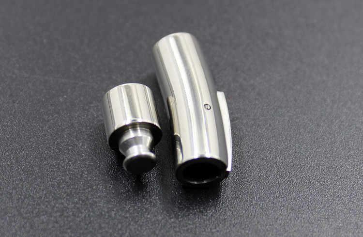 Zapięcie ze stali nierdzewnej rura do okrągłego skórzany sznur 3/4/5/6/8mm bransoletka złącze komponenty do biżuterii diy zatrzask zaślepki zatrzaski