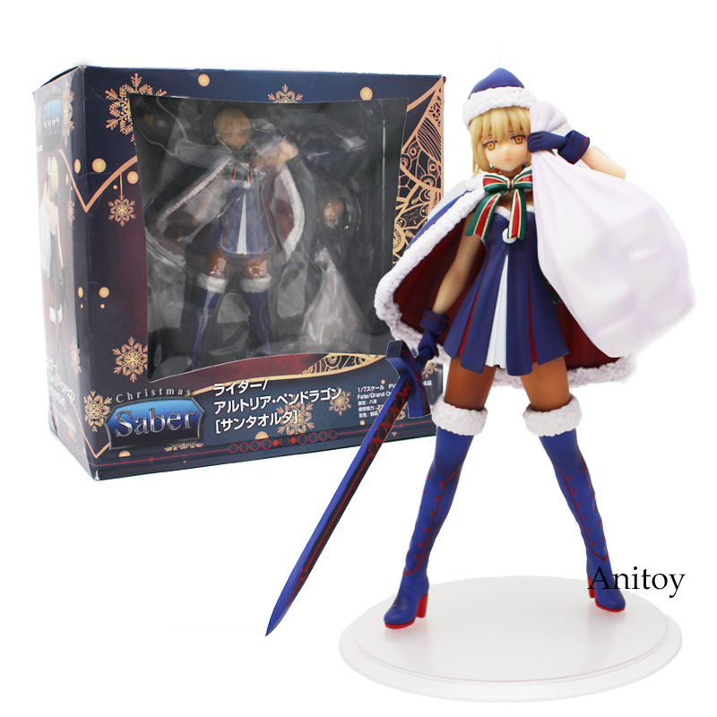 Fate Grand Order Christmas Saber 1/7 Scale PVC Figure Collectible Model Toy 21cm new hot christmas gift 21inch 52cm bearbrick be rbrick fashion toy pvc action figure collectible model toy decoration