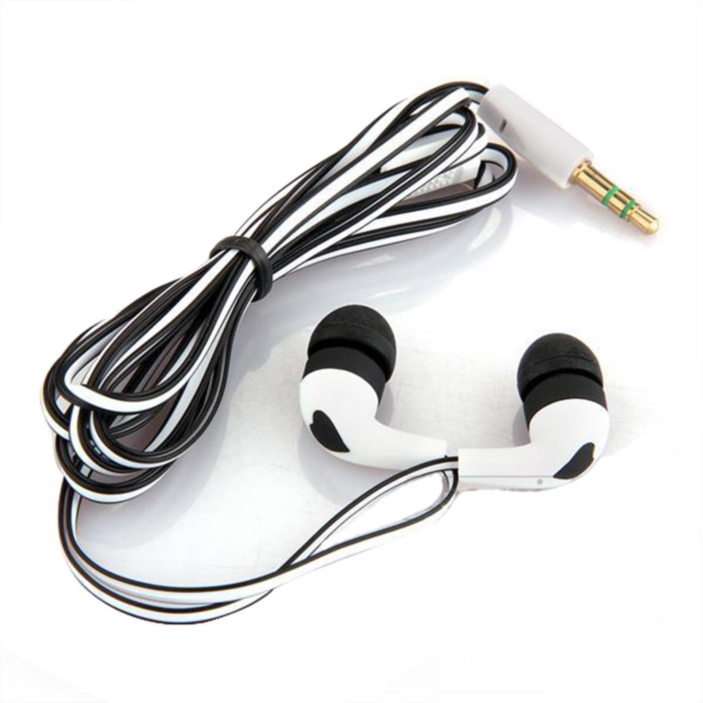 Marsnaska Brand New Fashion 3.5mm Stereo In-ear Earbud Headphones Earphone Headset for iPhone 5 5s 4 White + Black Wholesale image