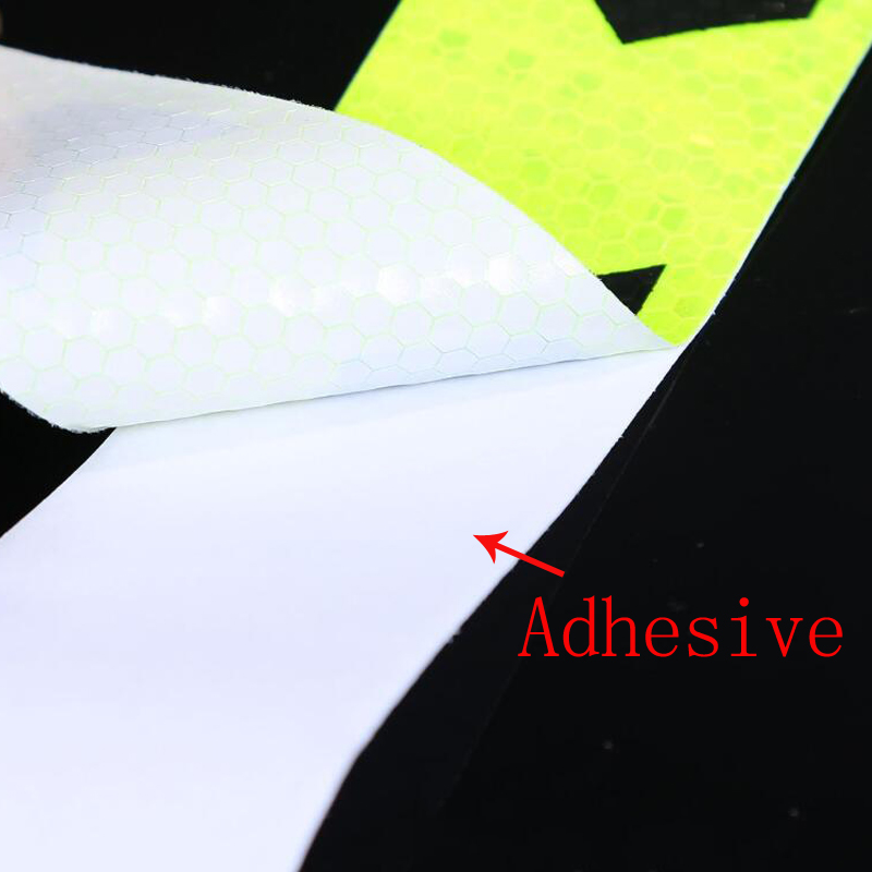 Купить с кэшбэком 5cmx10m Car Reflective Material Tape Sticker Automobile Motorcycles Safety Warning Tape Reflective Film Car Stickers