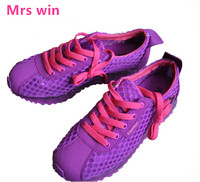 Spring Summer Sneakers Women S Mesh Running Shoes Light Breathable Fight Color Stitching Air Cushion Barefoot