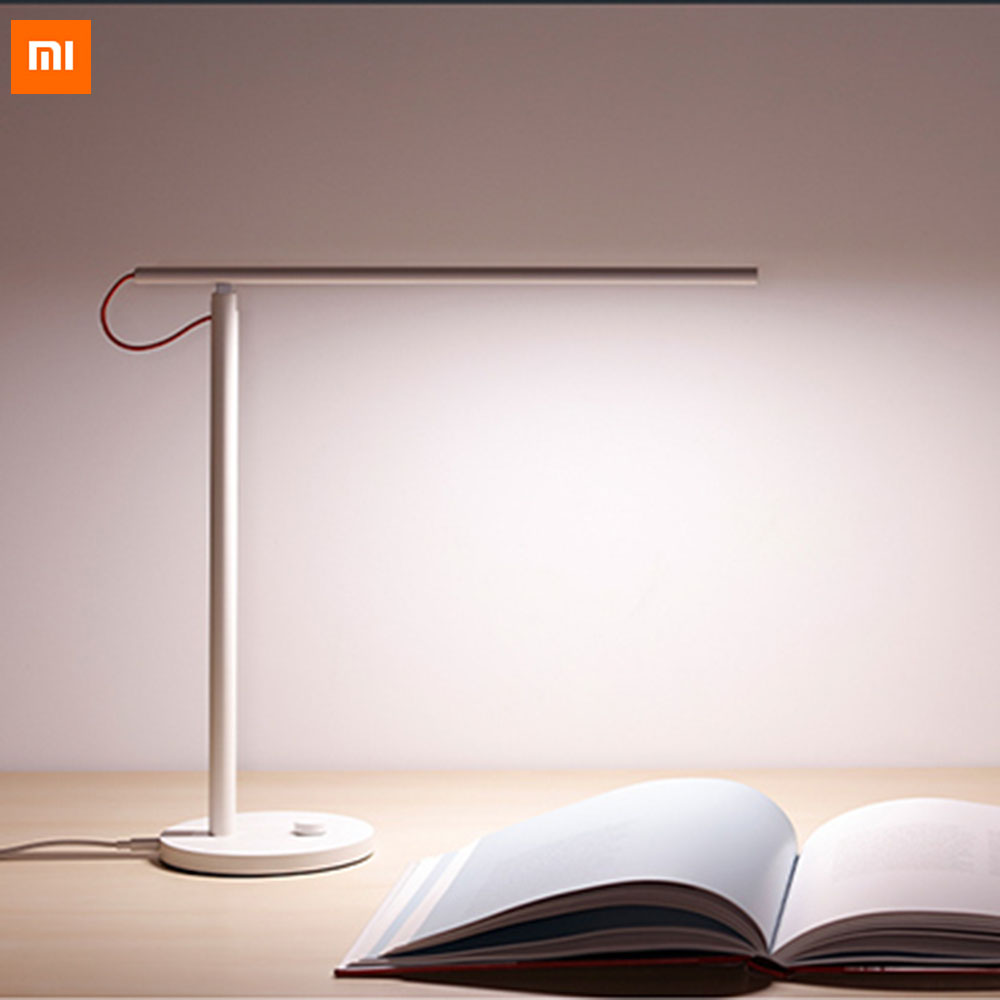 Xiaomi Mijia LED Desk Lamp Smart Table Lamps Desklight 4 Lighting Modes Support By Smart Phone App Remote Control remote control led light creative monje smart air purifier wireless night lights sensor lamps gift table desk lamp