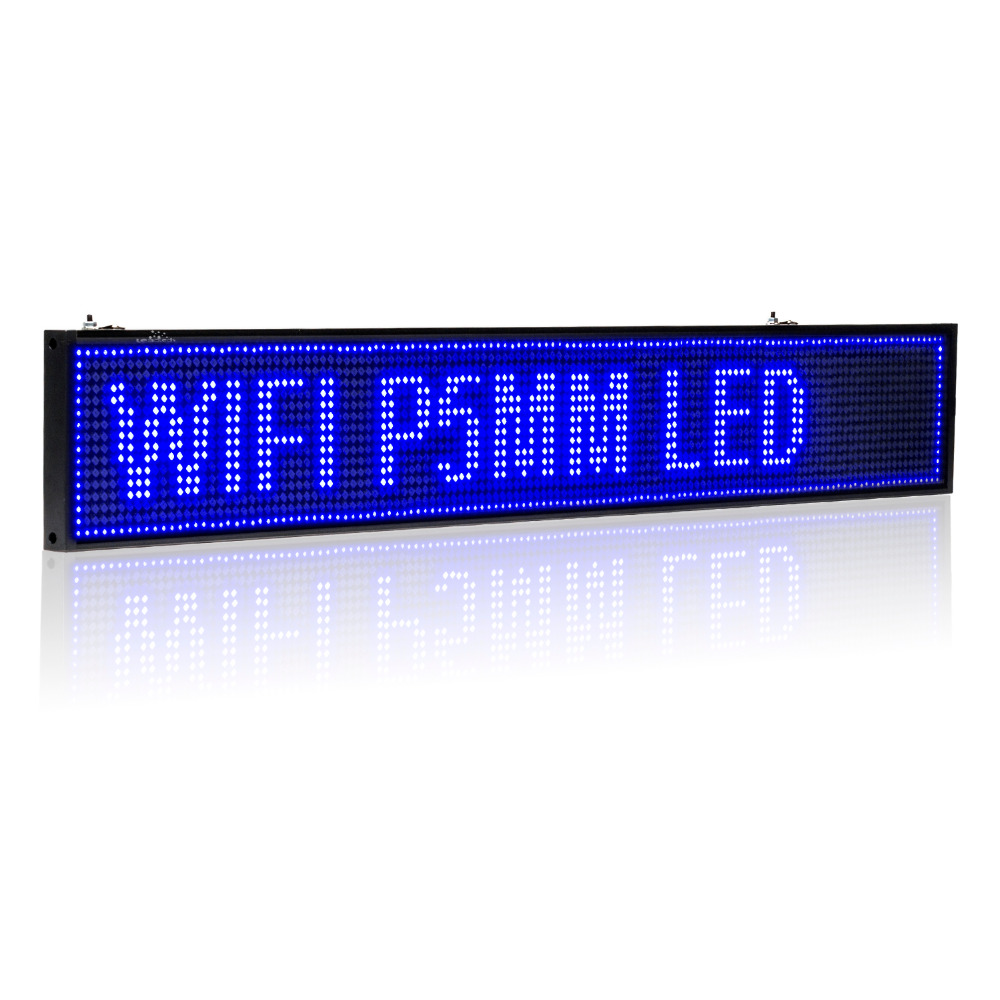 32-in Blue Android USB WIFI LED Sign Wireless Programmable Rolling Information P5 SMD Advertising  Indoor Led Display Board