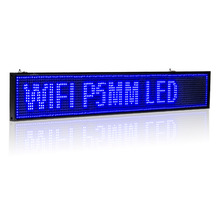 все цены на 35-in Android WIFI LED Sign wireless programmable rolling information P5 Advertising  Indoor led Display board онлайн