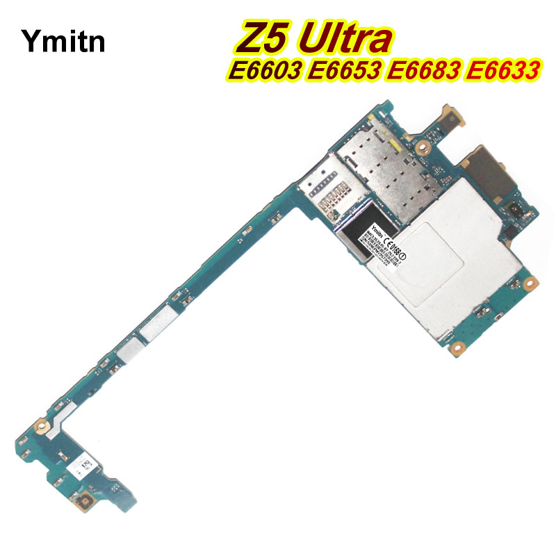 Ymitn Mobile Débloqué Électronique Panneau Carte Mère Carte Mère Circuits Pour Sony Xperia Z5 Ultra E6603 E6653 E6683 E6633