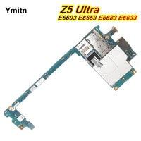 Ymitn Mobile Unlocked Electronic Panel Mainboard Motherboard Circuits For Sony Xperia Z5 Ultra E6603 E6653 E6683 E6633