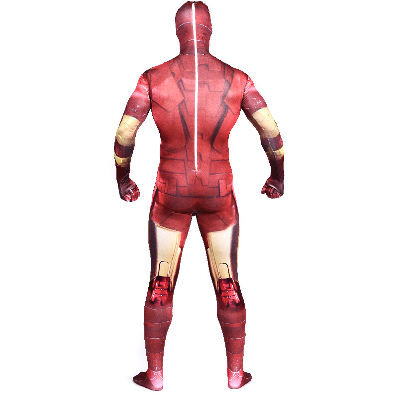 Adult Iron Man Costume Superhero Lycra Spandex 2nd Skin Zentai Full ...