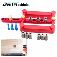 DR Machinist Ultimate Self Centering Dowel Jig Hole Locator Drilling Tools 3 In 1 Punch Locator