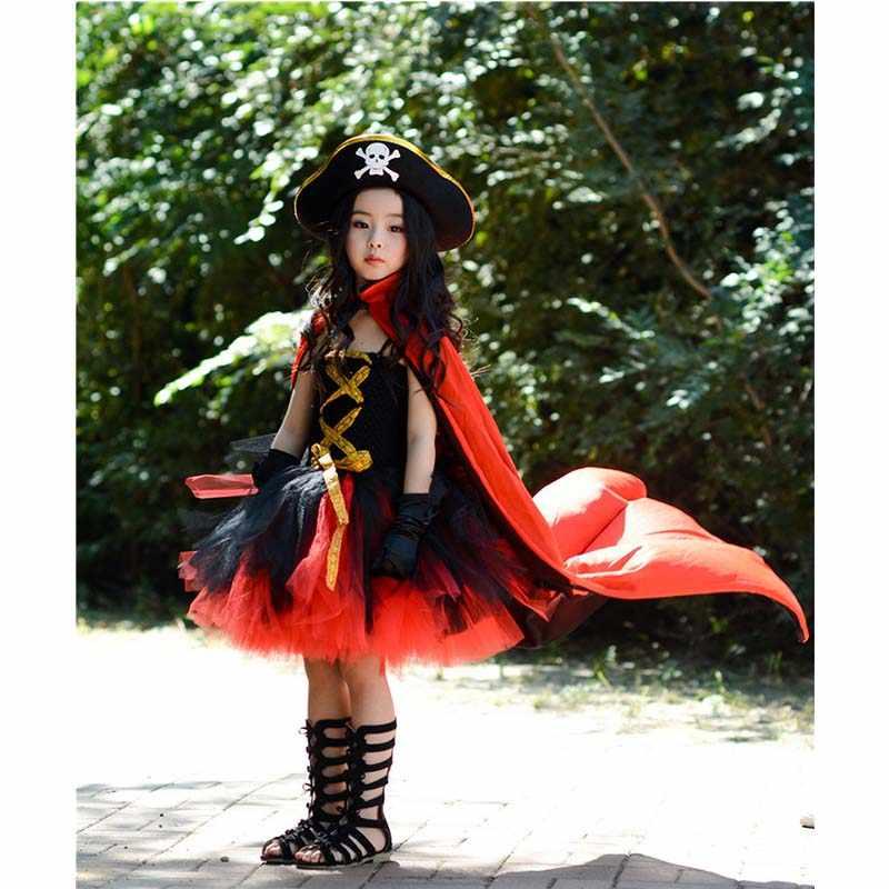 Conjunto De Vestido De Halloween Para Niñas Vestido De Pirata Ropa De Disfraces Para Niñas