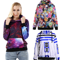 New Arrival 1000 Women Girl Galaxy Adventure Time Minions weeds 3D Prints Hooded Sweatshirt Fashion Suit Outside Workout Hoodies