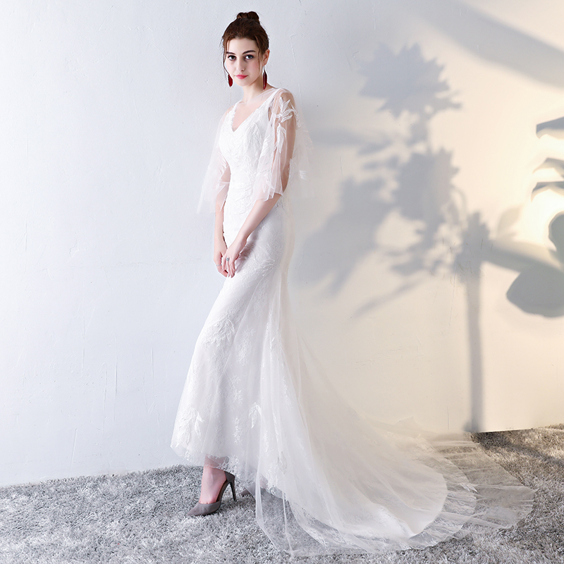 Vestido De Noiva Renda 2016 Vintage Lace Backless Wedding Dresses ...