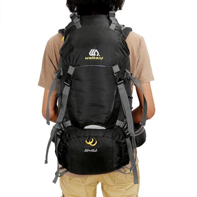 0e10cba53d WEIKANI 60L Large Waterproof Climbing Hiking Backpack W  Rain Cover Bag  Camping Mountaineering Backpack Sports Outdoor Bike Bag