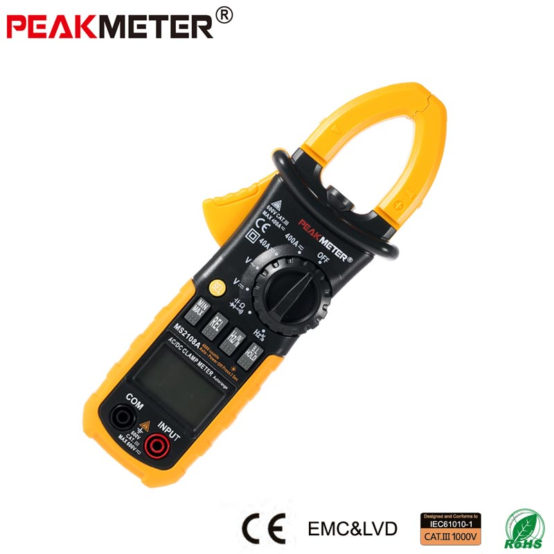 Official PEAKMETER PM2108A Digital AC DC Clamp Meter 4000 Counts Capacitance frequency Resistance Earth Tester Multimeter мышь gembird musw 305 black