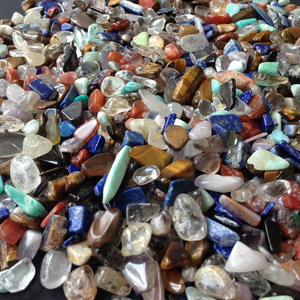 500 gram Natural feng shui crystal quartz  5 kinds color 7-9mm  polished tumbled stones home decor