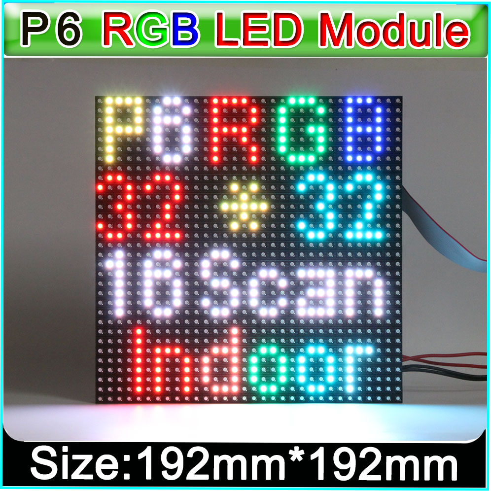 SMD 3in1 RGB P6 Indoor Full Color Led Displays  Module, 32x32pixel, 1/16 Scan, P6 Led Display Module Video Panel