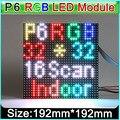 SMD 3in1 RGB P6 Interior cheio de cor Levou Módulo Displays, 32x32 pixels, 1/16 de digitalização, p6 display led módulo do painel de vídeo