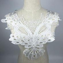 10Pieces Polyester White Flower Neckline Lace Collar Charming Sewing Applique China Fabric Suppliers