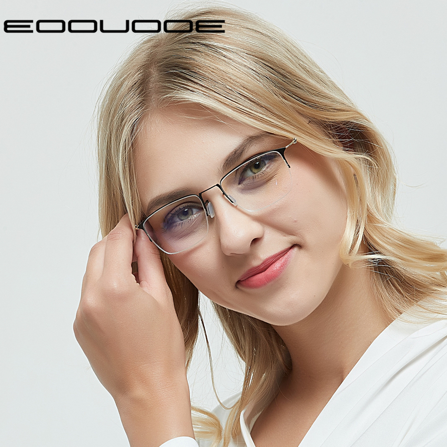 Titanium Glasses Frame Women Prescription Eyeglass Frames For Optical Lenses Myopia and Reading Oculos de Grau