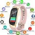 2019 Smart Orologio Donne Degli Uomini di Sport orologio da Polso Impermeabile Signore smartwatch monitor di frequenza cardiaca Pedometro di fitness di inseguimento fascia