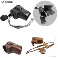 AYdgcam Luxury Pu Leather Camera Case Bag For Canon 6D Mark II 6D II Camera Cover With Strap Mini Pouch Removable Battery