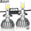 2Pcs Super Bright H7 Led bulb 60W 6000LM Headlights Hight Power Auto Led Lamp Cob Car Led Lights 6000K White Low Beam Led DRL